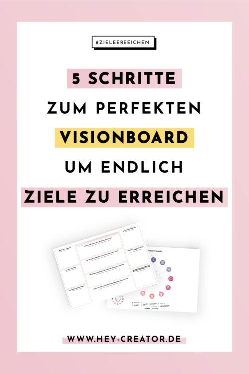 Visionboard Anleitung Pinterest Pin