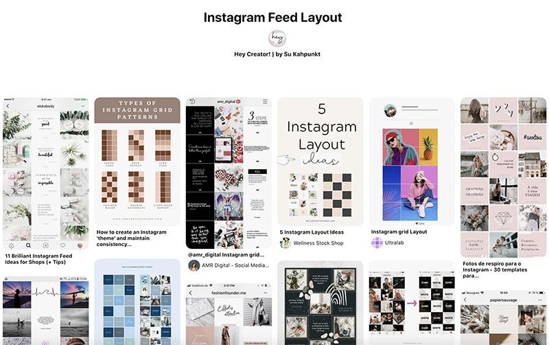 Pinterest Instagram Feed Layout